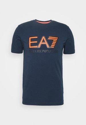 T-Shirt print - navy blue