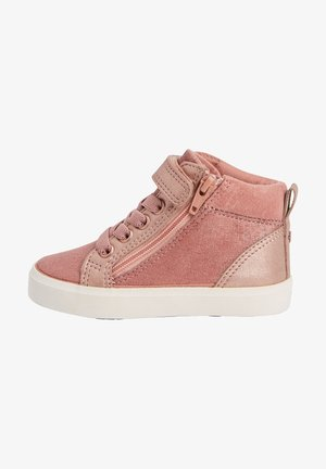 ELASTIC LACE HIGH TOP - High-top trainers - pink