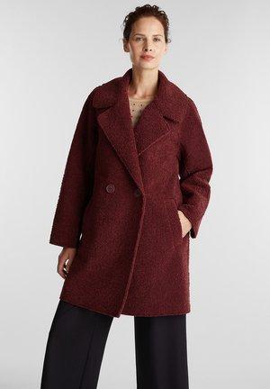 Short coat - bordeaux red