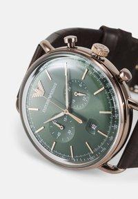 Emporio Armani - Cronografo - brown - 4