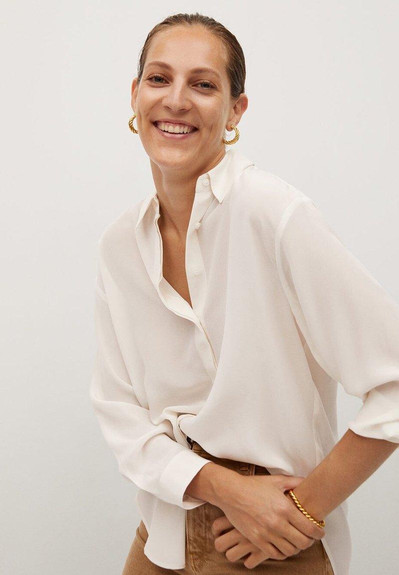 Mango - MADE - Button-down blouse - cremeweiß