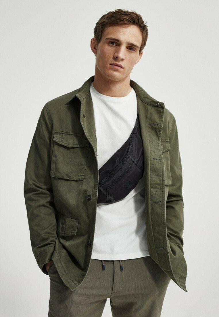 Massimo Dutti - Summer jacket - khaki
