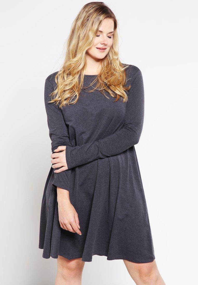Zalando Essentials Curvy - Jersey dress - dark grey melange