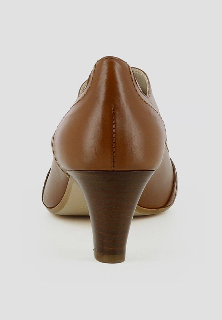 Evita Giusy - Snørepumps Cognac