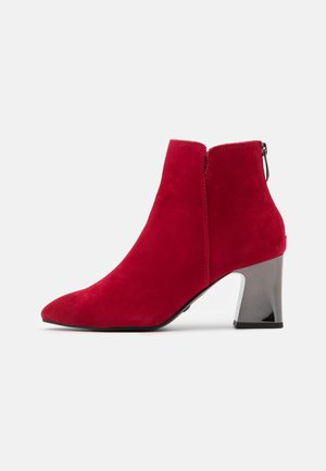 Ankle boots - cherry