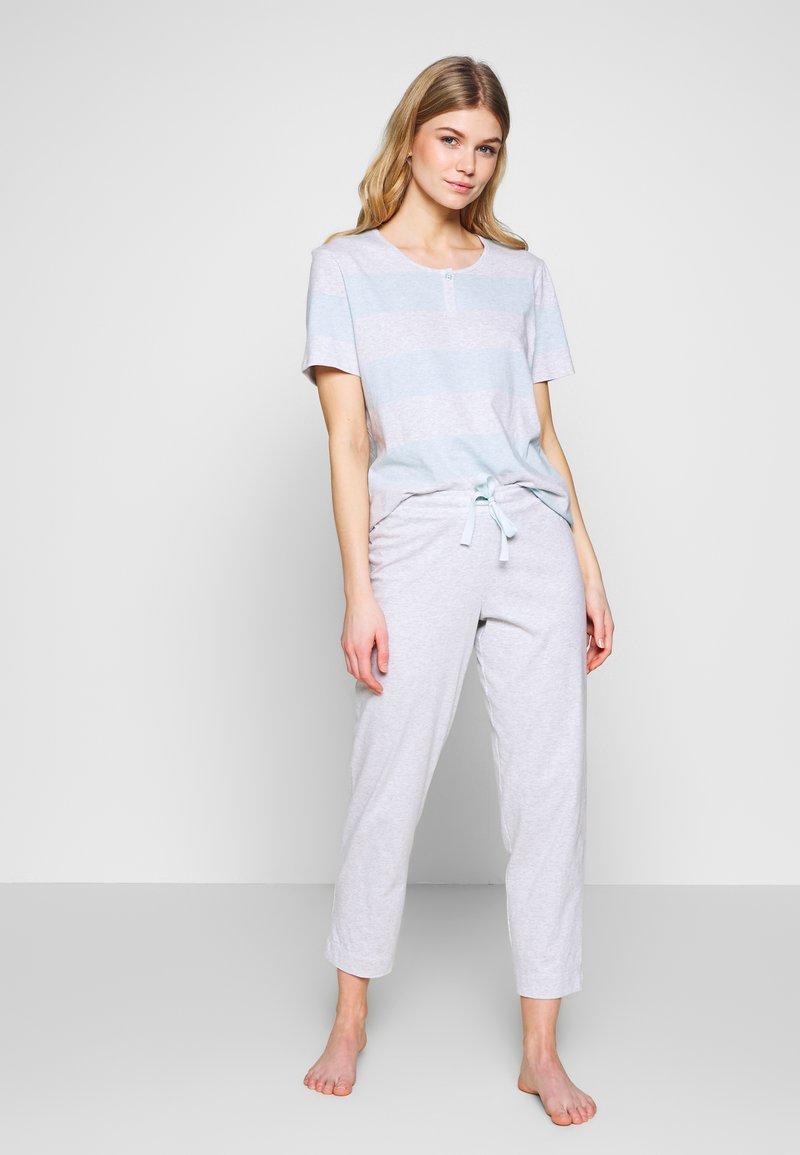 Schiesser - ANZUG 7/8 LANG, 1/2 ARM - Pyjama set - grau-melange