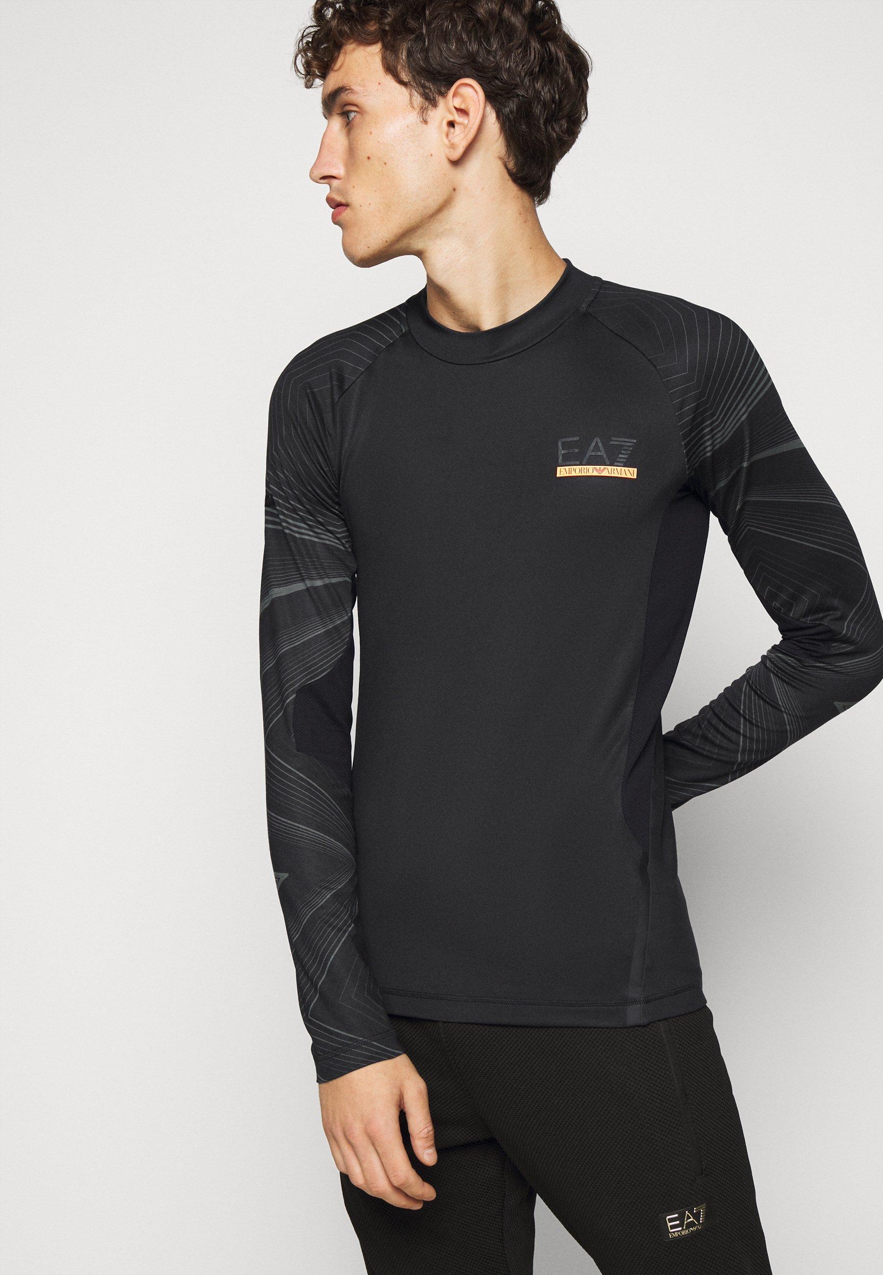 EA7 Emporio Armani PANTALONI - Print T-shirt - black PVuUG