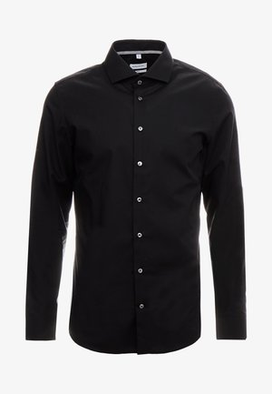 SLIM FIT SPREAD KENT PATCH - Kostymskjorta - black
