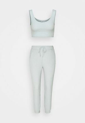COSY BRUSHED SET - Tracksuit bottoms - ice blue