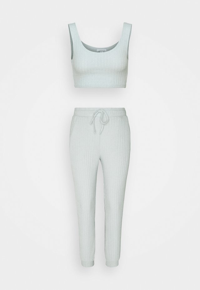 COSY BRUSHED SET - Pantalon de survêtement - ice blue