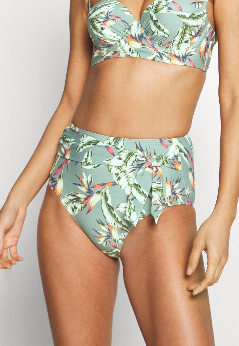 Esprit - PANAMA BEACH HIGH BRIEF - Bikini bottoms - light khaki
