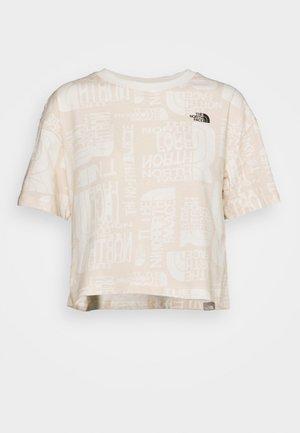 DISTORTED LOGO CROP TEE - Basic T-shirt - vintage white