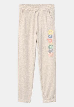 GIRL SLOUCHY LOGO - Teplákové kalhoty - mottled beige