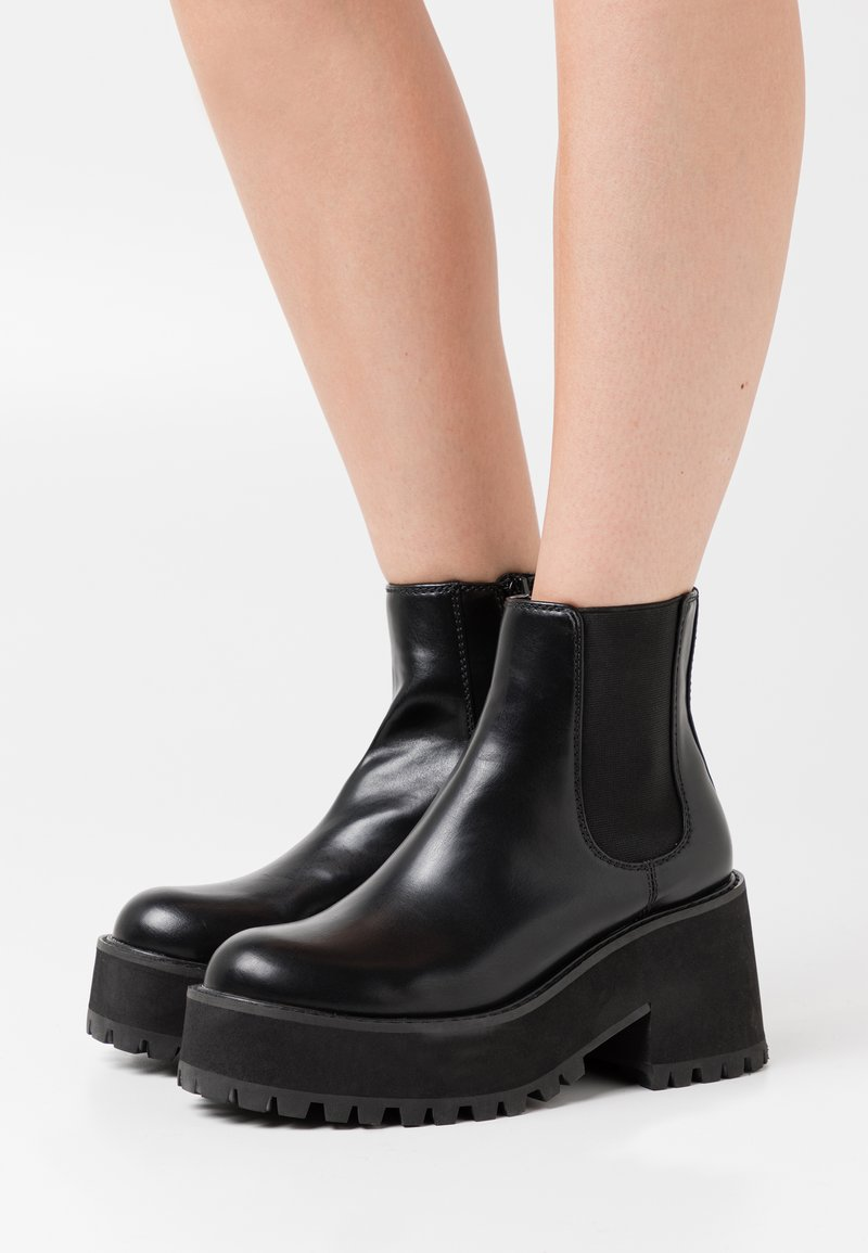Coolway - YUMY - Platform ankle boots - black