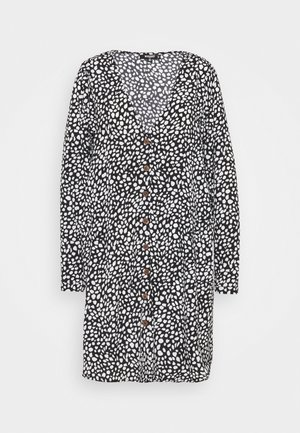 BUTTON SMOCK DRESS DALMATIAN - Day dress - black