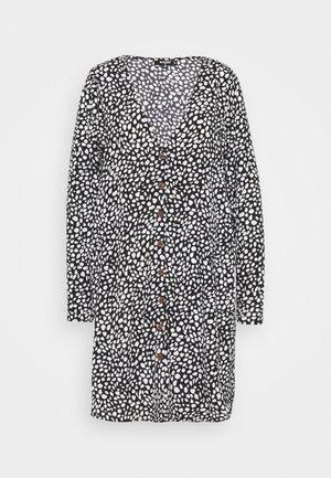 BUTTON SMOCK DRESS DALMATIAN - Sukienka letnia - black