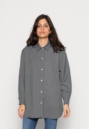 SALMA - Button-down blouse - dark grey mel