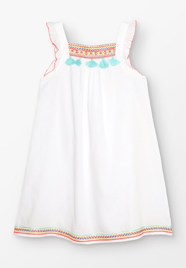 GIRLS FLUTTER DRESS - Day dress - white