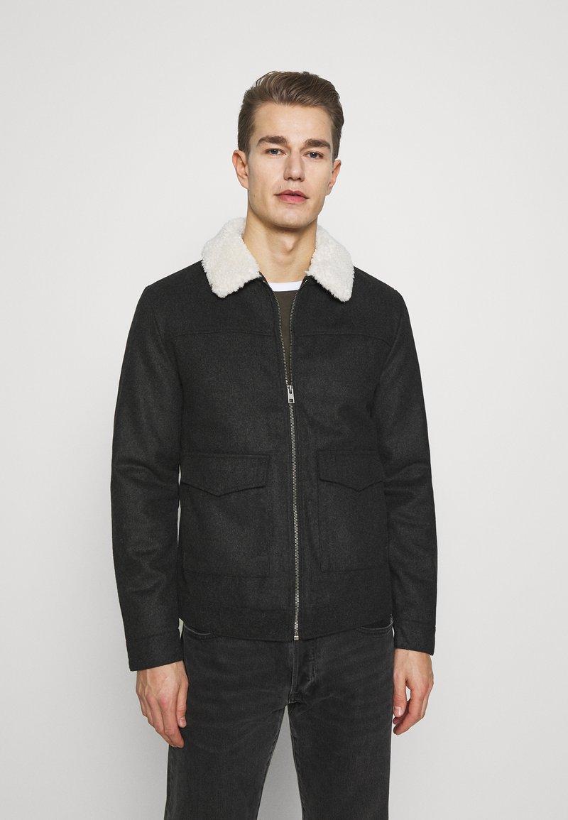 Solid - JACKET LINTON - Light jacket - dar grey