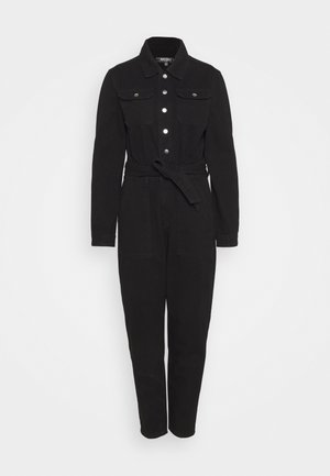BUTTON THROUGH BOILER SUIT  - Overall / Jumpsuit - black