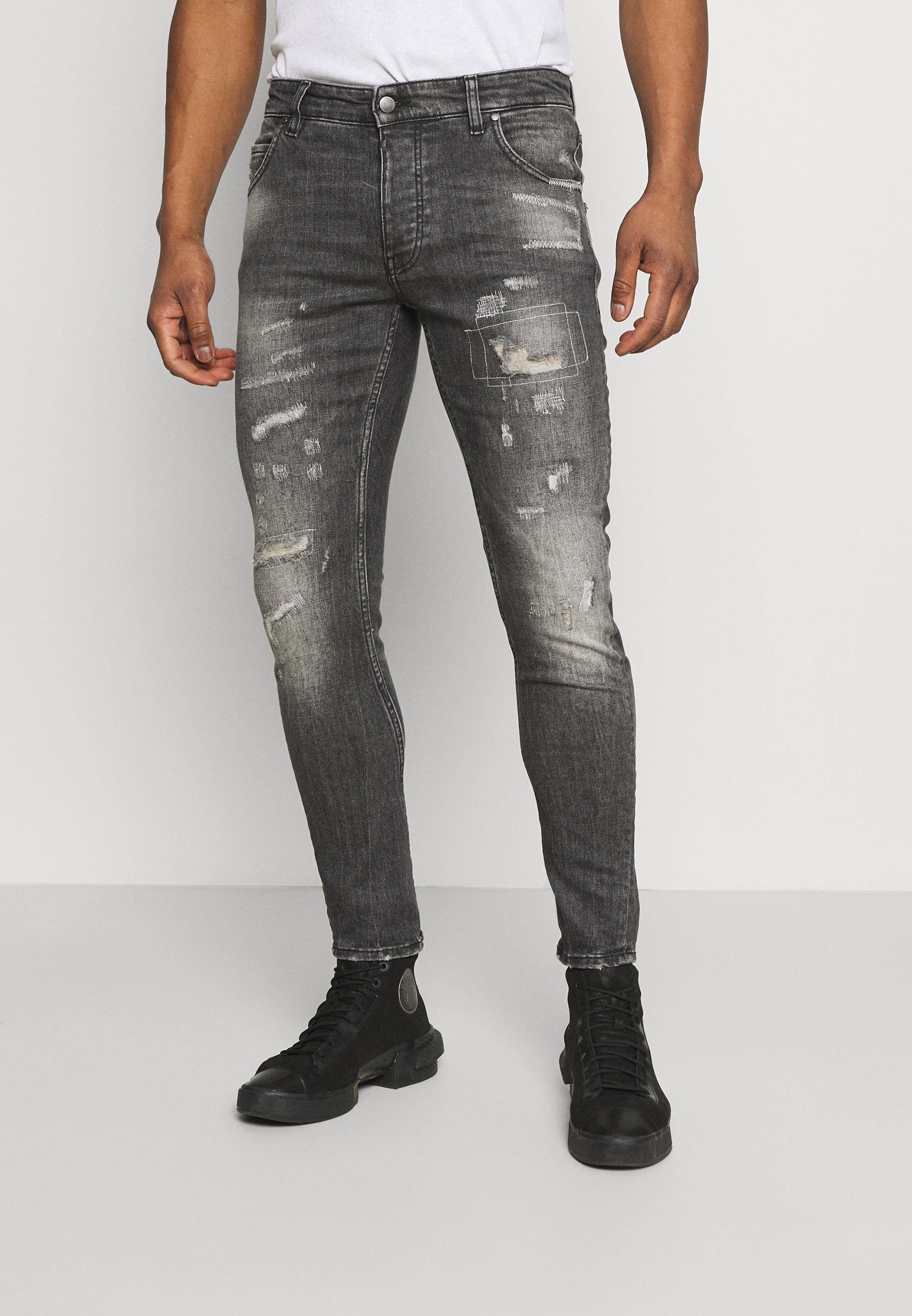 Homme BILLY THE KID REPAIRED - Jeans Skinny