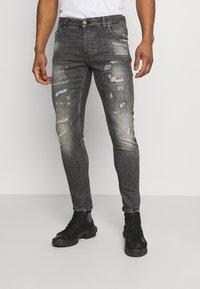 Tigha - BILLY THE KID REPAIRED - Jeans Skinny Fit - vintage black - 0