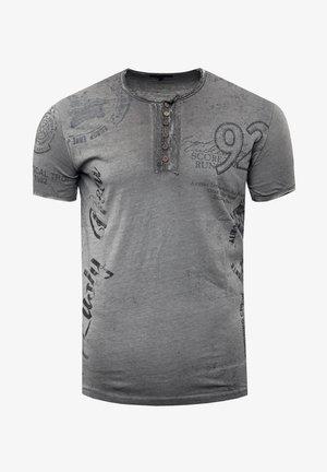 MIT SEITLICHEM PRINT - Print T-shirt - anthrazit