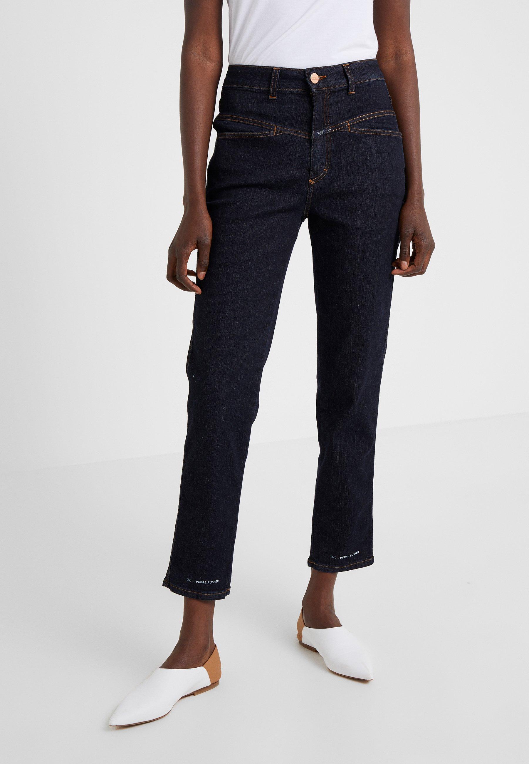 CLOSED PEDAL PUSHER - Jeans straight leg - dark blue