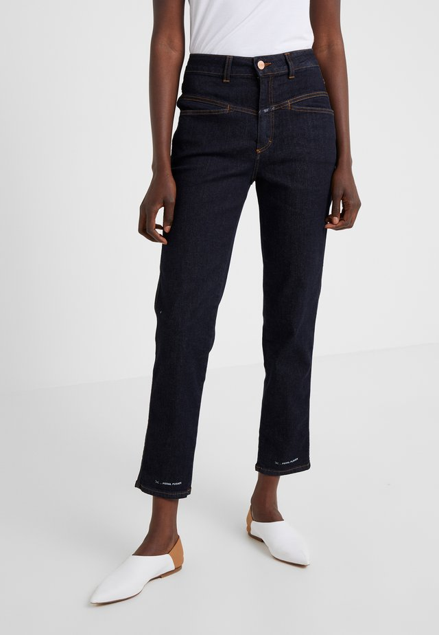 PEDAL PUSHER - Jeans Relaxed Fit - dark blue