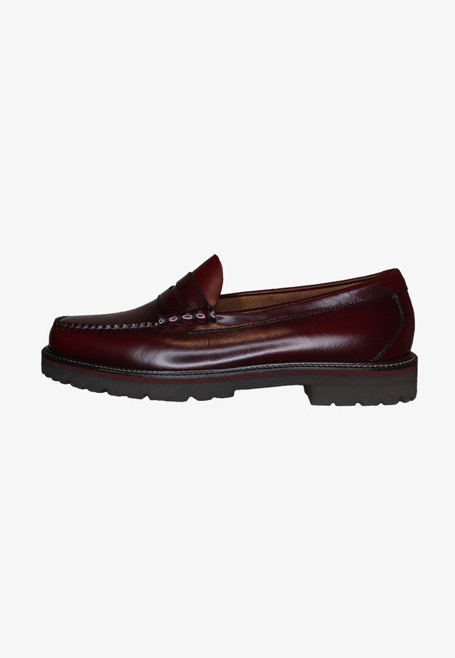 Slip-ons - wine leather