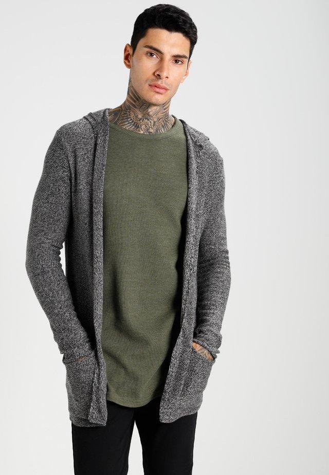 Cardigan - light grey/black