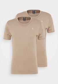 G-Star - BASE 2 PACK - Basic T-shirt - light deer - 0