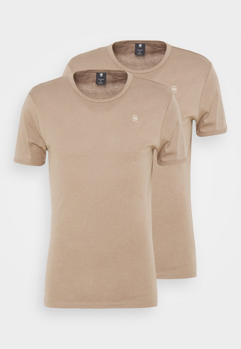 G-Star - BASE 2 PACK - Basic T-shirt - light deer
