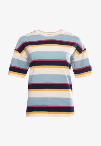 Print T-shirt - forever blue stripe