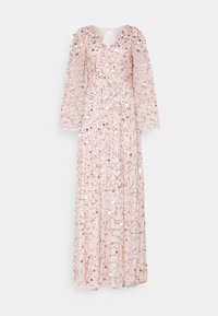 Maya Deluxe - ALL OVER 3D EMBELLISHED DRESS WITH BELL SLEEVE - Iltapuku - pearl pink - 5