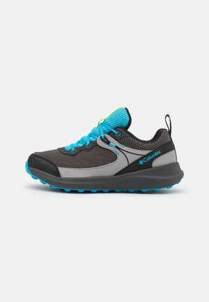 YOUTH TRAILSTORM UNISEX - Hiking shoes - dark grey/cyan blue