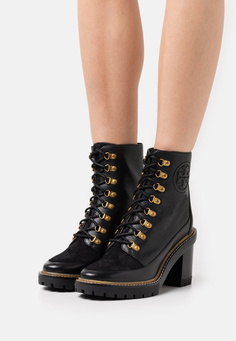 Tory Burch - MILLER BOOTIE - Lace-up ankle boots - perfect black