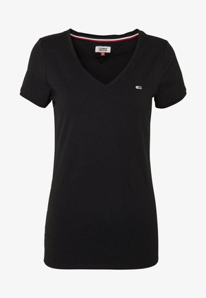 SHORTSLEEVE STRETCH TEE - T-Shirt basic - black