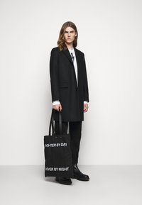 Neil Barrett - FIGHTER BY DAY LOVER BY NIGHT TOTE BAG UNISEX - Tote bag - black/white - 0