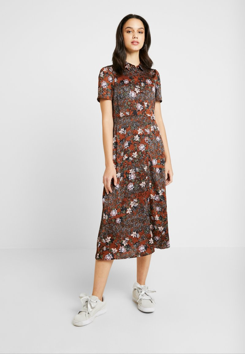 Vero Moda - VMISABEL DRESS - Maxi dress - tortoise shell/isabel