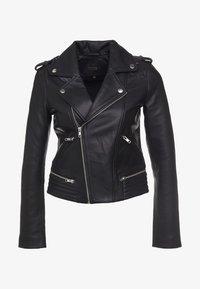maje - Leather jacket - noir - 0