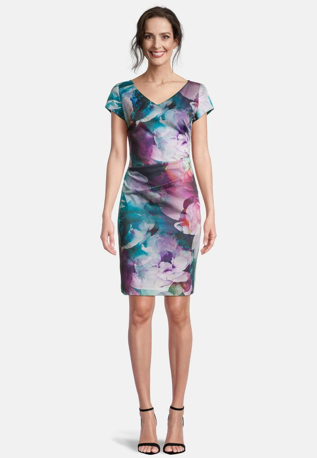 Shift dress - dark blue/pink
