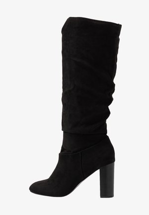 KISS PULL ON BOOT - High heeled boots - black