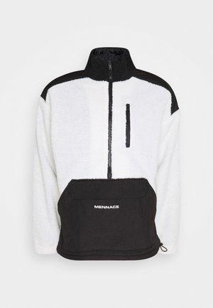 HALF ZIP PANELLED - Summer jacket - white