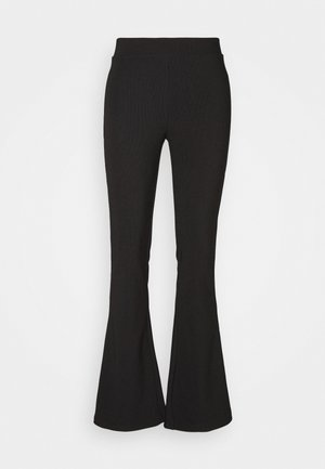 NMBILLIE FLARED PANTS - Broek - black
