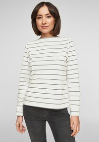 s.Oliver - Long sleeved top - off-white stripes - 0