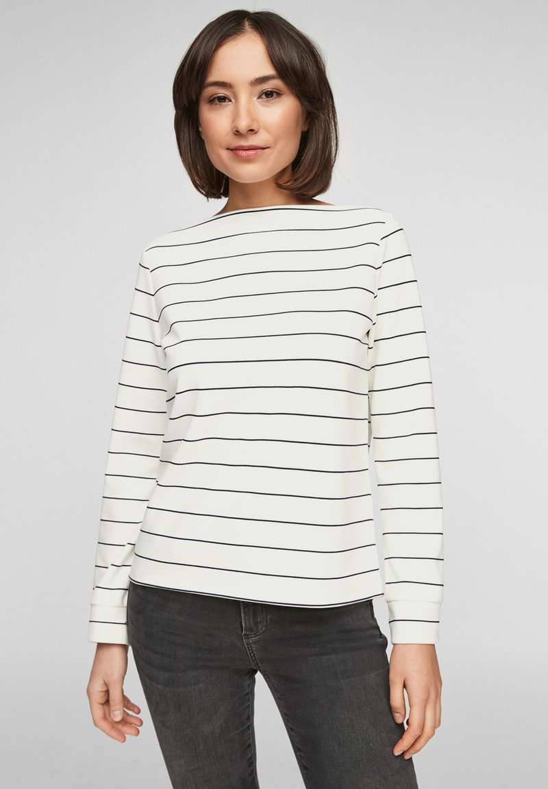 s.Oliver - Long sleeved top - off-white stripes