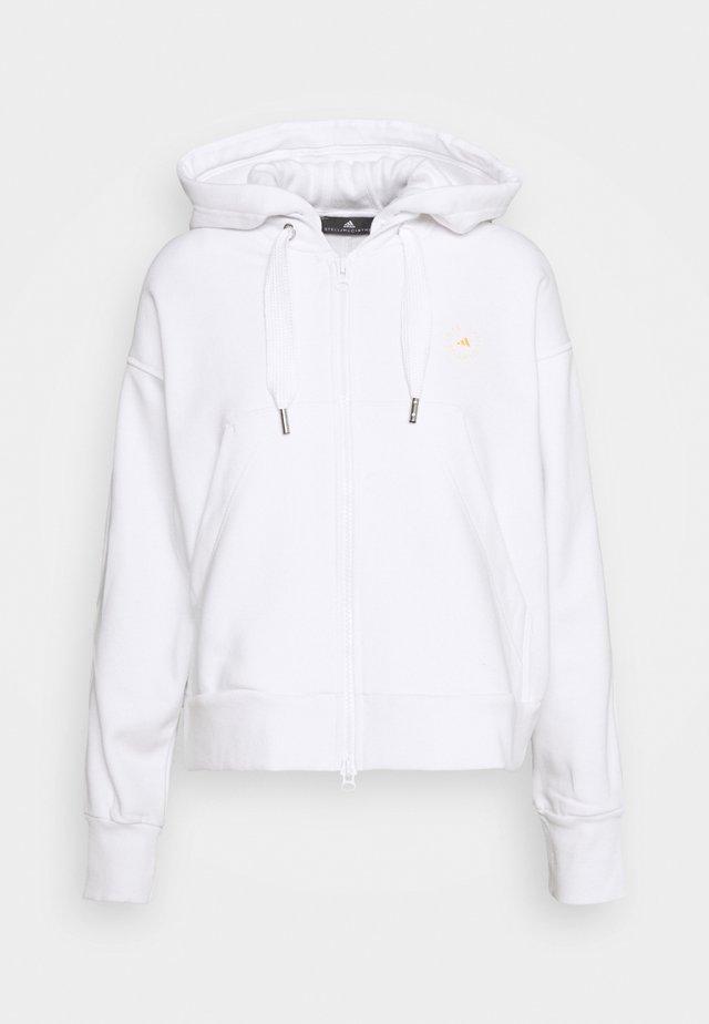 CROPPED HOODIE - Zip-up hoodie - white