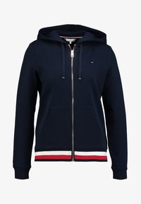 HERITAGE ZIP THROUGH HOODIE - Mikina na zip - midnight
