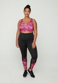 Zizzi - Leggings - Trousers - pink - 0